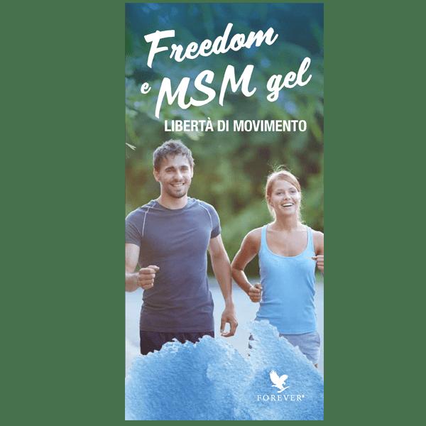 DEPLIANT FREEDOM & MSM GEL - 25PZ