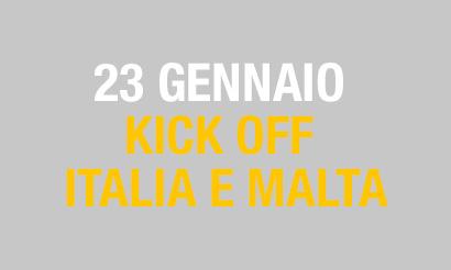 Kick Off Italia e Malta