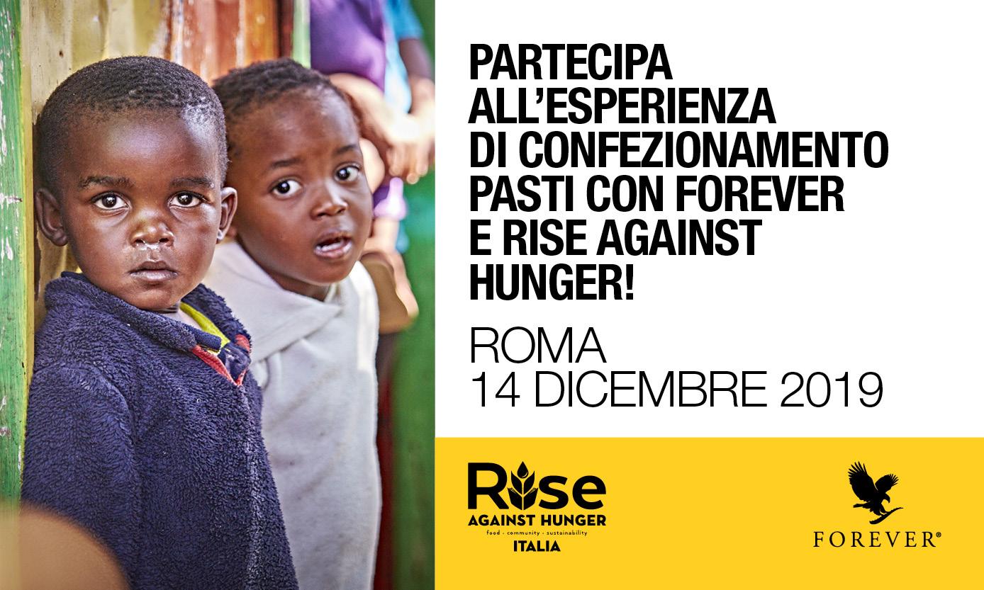 Evento confezionamento pasti Roma