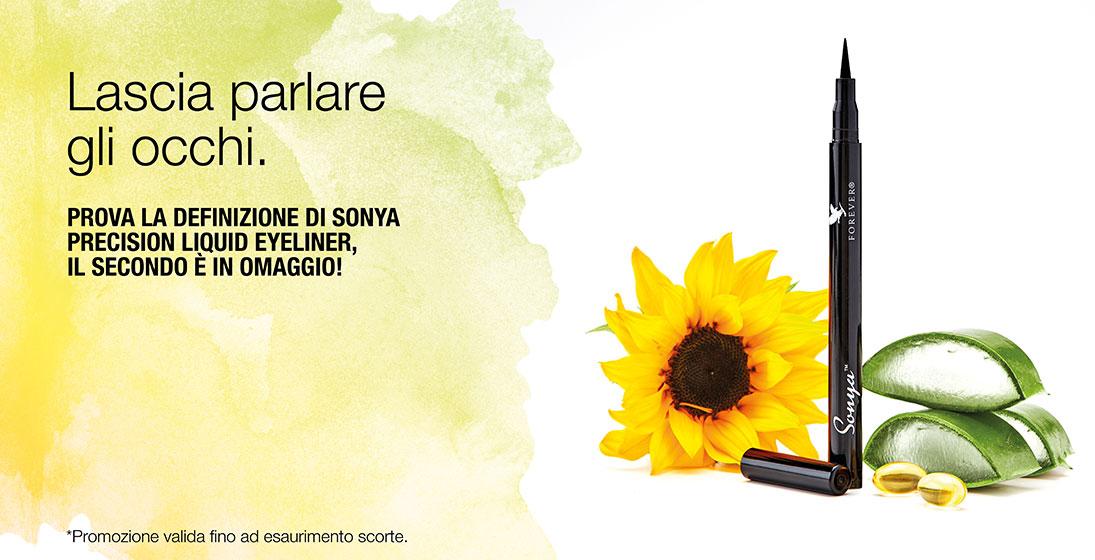 Sonya Precisione Liquid Eyeliner in promozione 2x1